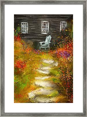 Watson Farm - Old Farmhouse Painting Framed Print by Lourry Legarde