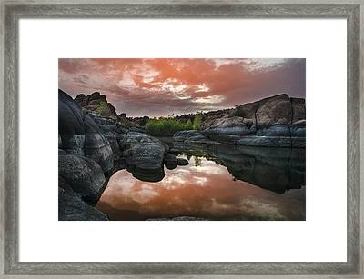 Watson Lake In Pink Framed Print by Dave Dilli