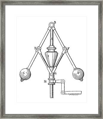 Watt Steam Engine Governor Framed Print by Science Photo Library