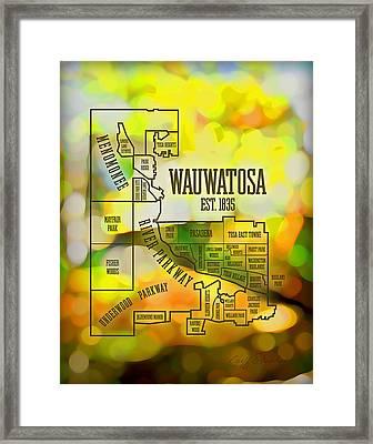 Wauwatosa Neighborhood Framed Print by Geoff Strehlow