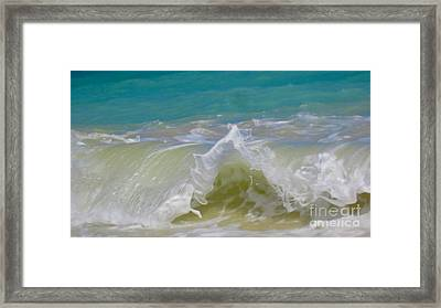 Wave 3 Framed Print by Cheryl Young