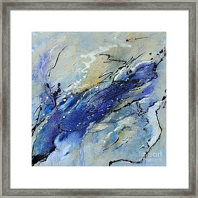 Wave - Abstract Art Framed Print by Ismeta Gruenwald