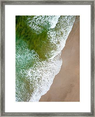 Wave Action On Tallow Beach Framed Print by Rob Huntley