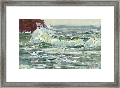 Wave Action Framed Print by Patricia Seitz