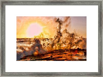 Wave Crasher La Jolla By Diana Sainz Framed Print by Diana Sainz