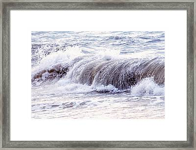 Wave In Stormy Ocean Framed Print by Elena Elisseeva