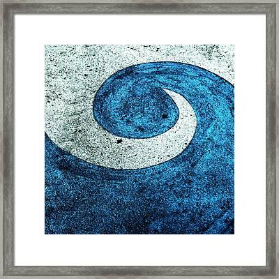 Wave Framed Print by Nancy Merkle