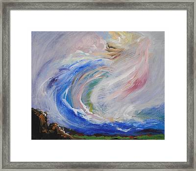 Wave Of Healing Framed Print by Patricia Kimsey Bollinger
