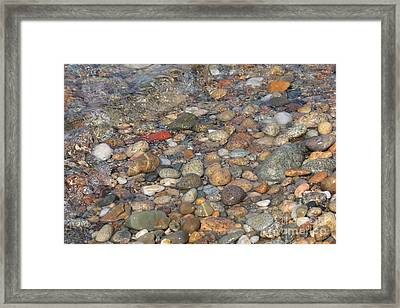 Wave Over Beautiful Rocks Framed Print by Carol Groenen