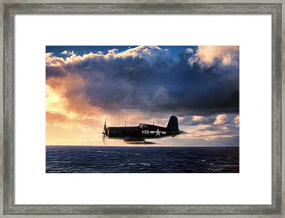 Wave Runner Framed Print by Peter Chilelli
