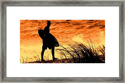 Wave Search Framed Print by Ian  MacDonald
