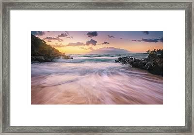 Wave Surge Framed Print by Hawaii  Fine Art Photography
