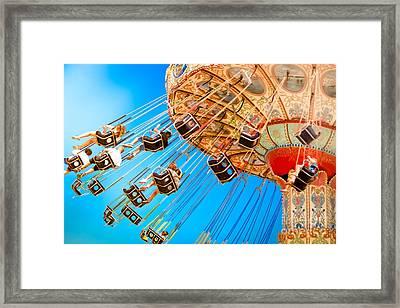 Wave Swinger  Framed Print by Colleen Kammerer