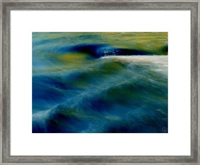 Waves Framed Print by Gun Legler