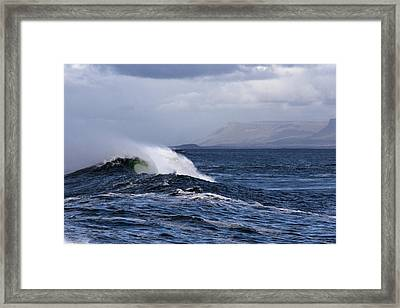Waves In Easkey 2 Framed Print by Tony Reddington