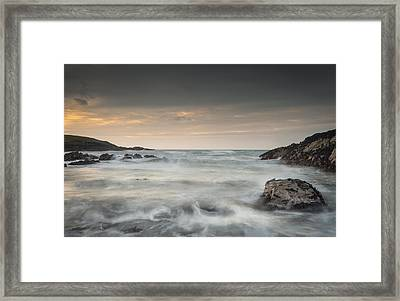 Waves In Motion Framed Print by Andy Astbury