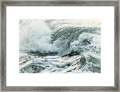 Waves In Stormy Ocean Framed Print by Elena Elisseeva