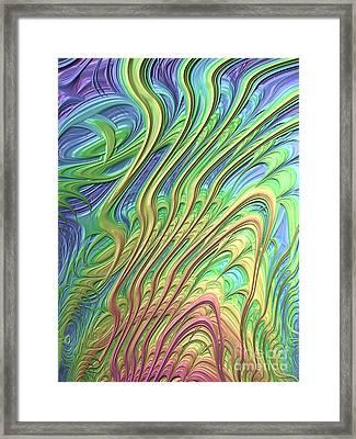 Waves Framed Print by John Edwards