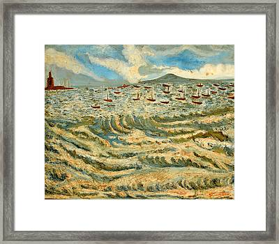 Waves Of Ganga Framed Print by Anand Swaroop Manchiraju