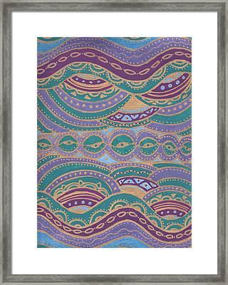 Waves Of Wellness Framed Print by Sri Devi