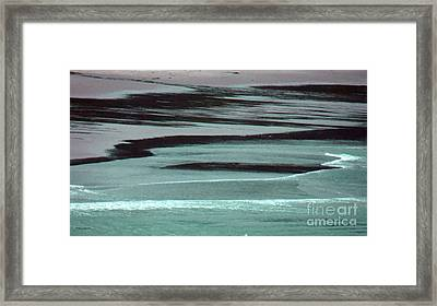 Waves On The Beach Framed Print by Methune Hively