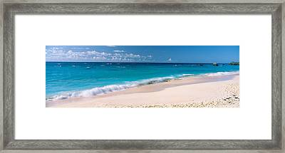 Waves On The Beach, Warwick Long Bay Framed Print by Panoramic Images