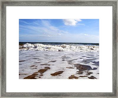 Waves Framed Print by Ramona Matei