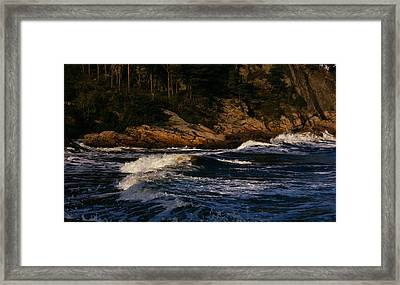 Waves Roll Framed Print by Ben Foster