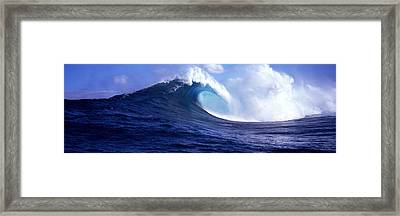 Waves Splashing In The Sea, Maui Framed Print by Panoramic Images