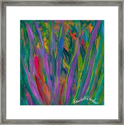 Waving Framed Print by Kendall Kessler