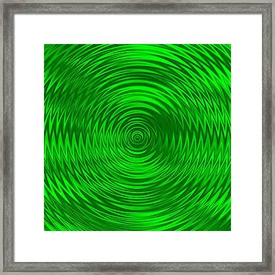 Wavy Green Background Framed Print by Valentino Visentini