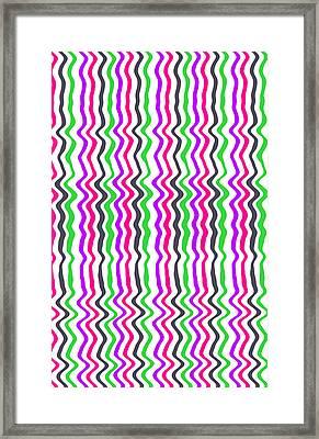Wavy Stripe Framed Print by Louisa Hereford