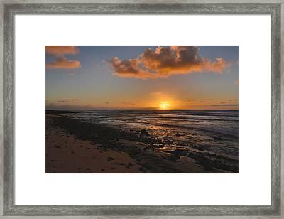 Wawamalu Beach Sunrise - Oahu Hawaii Framed Print by Brian Harig