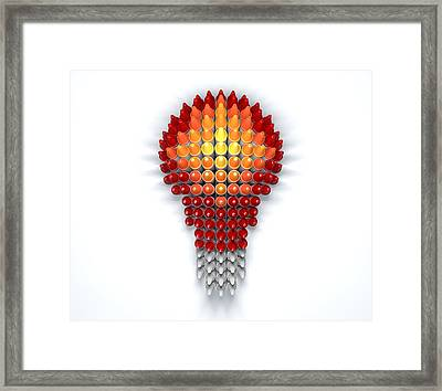 Wax Crayon Lightbulb  Framed Print by Allan Swart