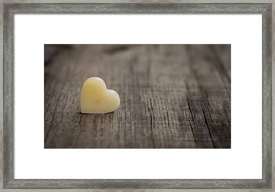 Wax Heart Framed Print by Aged Pixel