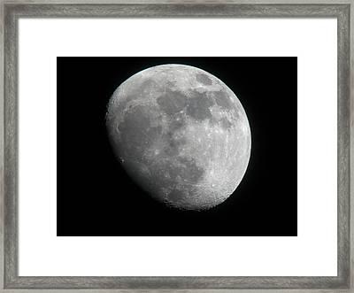 Waxing Gibbous Moon Framed Print by Teresa Herlinger