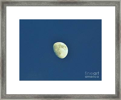 Waxing Moon Framed Print by D Hackett