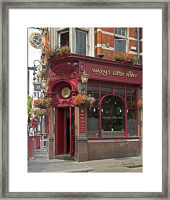 Waxy's Little Sister Pub Framed Print by Cheri Randolph