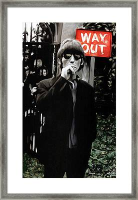 Way Out  George Harrison Framed Print by Iconic Images Art Gallery David Pucciarelli