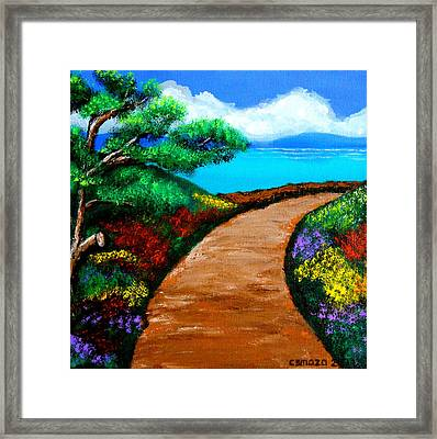 Way To The Sea Framed Print by Cyril Maza