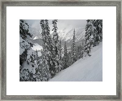 Way Up On The Mountain Framed Print by Kym Backland