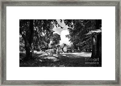 Wayland's Smithy Monochrome Framed Print by Tim Gainey
