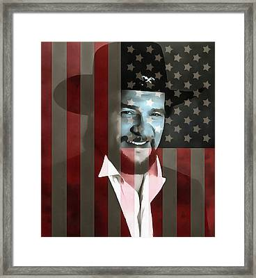 Waylon Jennings American Outlaw Framed Print by Dan Sproul