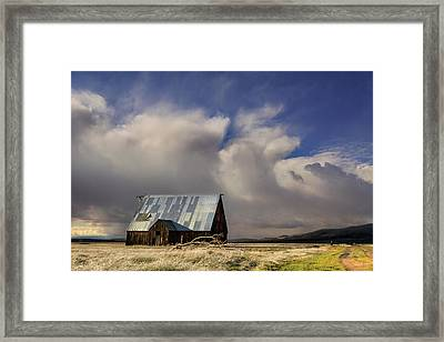 Wayman Barn In Adin Framed Print by Kathleen Bishop