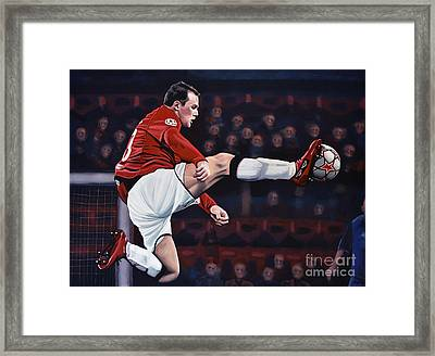 Wayne Rooney Framed Print by Paul Meijering