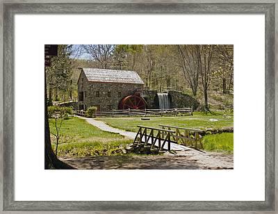 Wayside Grist Mill 8 Framed Print by Dennis Coates
