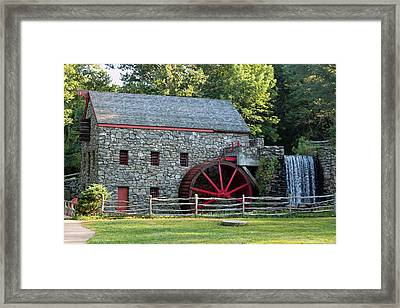 Wayside Grist Mill Framed Print by Suzanne Gaff