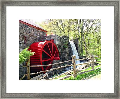 Wayside Inn Grist Mill Framed Print by Barbara McDevitt