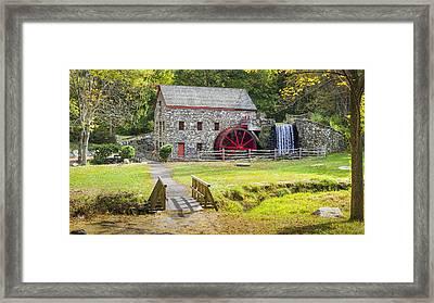 Wayside Inn Grist Mill Framed Print by Kyle Wasielewski