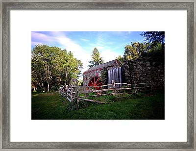 Wayside Inn Grist Mill Framed Print by Toby McGuire